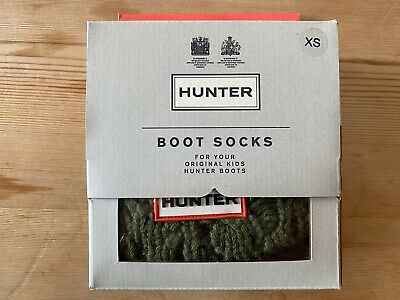 Hunter Boot Sock - Kids UK 4-6  (XS) - Green - Barely Worn If At All