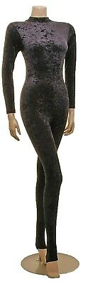 Catsuit Polo Neck Crush/Smooth Velvet Long Sleeves (#ELSA)