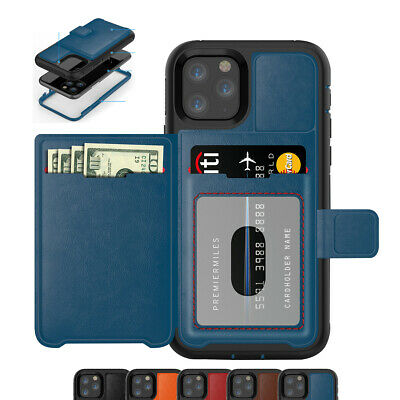 For New Apple iPhone 11 Pro Max Credit Card Holder Phone Case with Bracket Over