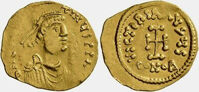 Byzantine Gold Tremissis of emperor Constans II (641-668). Rare and nice coin!