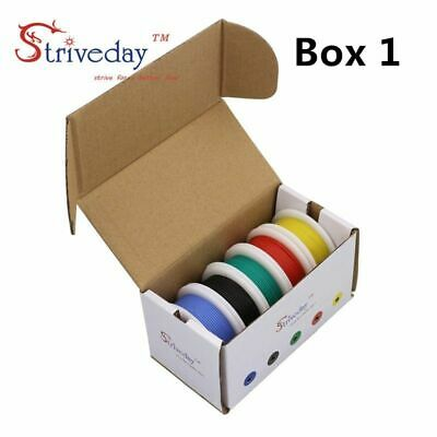 30/28/26/24/22/20/18awg Flexible Silicone Wire Cable wire 5 color Mix package