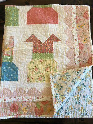 Handmade Quilt With Dresses For Baby Girl EUC