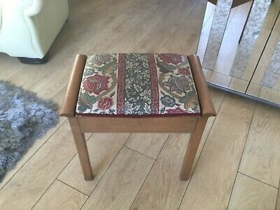 Vintage shabby chic Piano stool with underseat stoarge