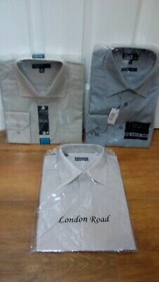 NEW IN PACK Bundle Men's Shirts Collar Size 16 Stone/Grey Short/Long Sleeved