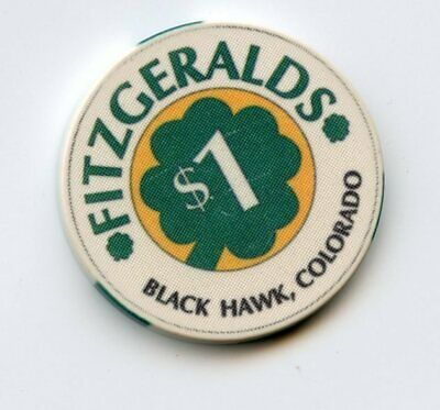 1.00 Chip from the Fitzgeralds Casino in Black Hawk Colorado
