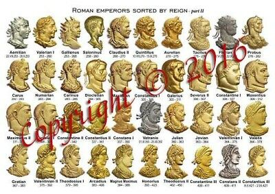 UK2 Catalog of Roman Byzantine Emperors Faces from Gold Aureus Stater Coin #coi