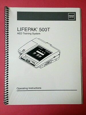 Medtronic Physio Control Lifepak 500T AED Training / Operating Manual - Sealed
