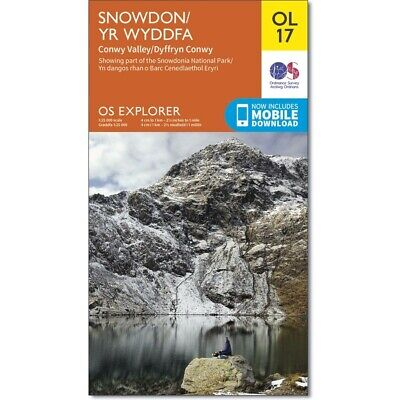 Waterproof OS Explorer OL17 Active Map: Snowdon - Conwy Valley