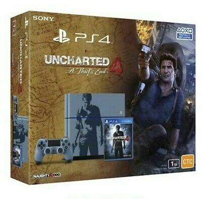 Playstation 4 1Tb Limited Edition Ps4 Uncharted 4 A Thiefs End Grey + Fifa