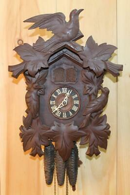 Old German Black Forest Cuckoo and Quail Clock