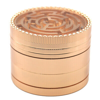 "2"" Maze Top 4 Piece Grinder Herb Spice Crusher ROSE GOLD Color 150"