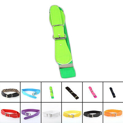 Belt Adjustable Buckle Elastic Colorful Stretchy Leather Skinny Waistband