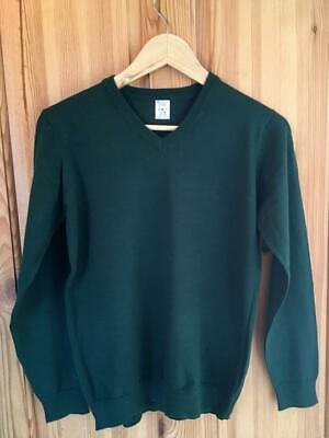 New Exstore M&S - New Boys Girls Green School Jumper -  - Size 13-14 Yrs