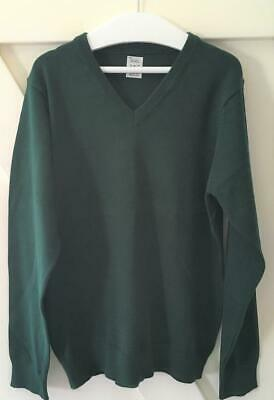 New Exstore M&S - New Boys Girls Green School Jumper -  - Size 11-12 Yrs