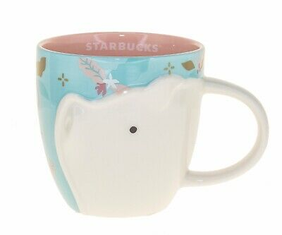 Starbucks Pig Zodiac Blue Pink Ceramic Mug Chinese New Year Taiwan Coffee Cup