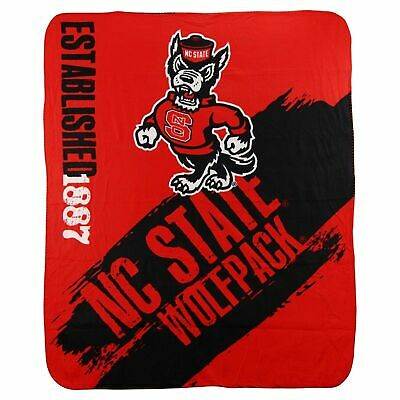 "NC State Wolfpack 50"" x 60"" Painted Fleece Throw Blanket by Northwest"