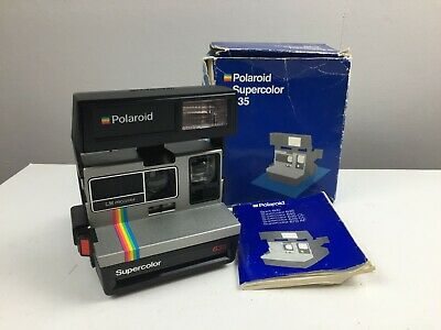 Polaroid 635 - Supercolor - 600 Instant Film Camera - With Box and Manual -
