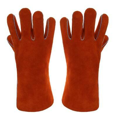 1 Pair Leather Heat Resistant Welding Gloves for BBQ//Baking//Soldering Gloves zxc