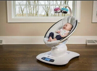 NEW 4Moms Mamaroo 4 Infant Reclining Seat Rocker Bouncer Swing Classic Gray