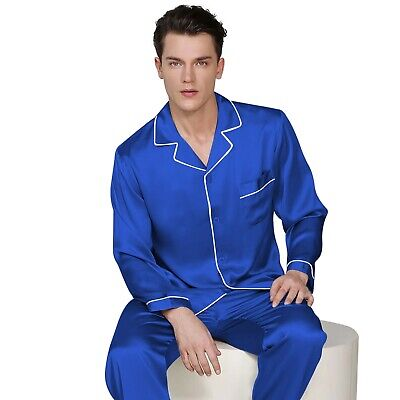 Mens Silk Satin Pajama Set - Top and Bottom  ** Great Gift  Idea  **