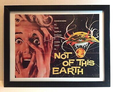 Not of This Earth 1957 Sci-fi Horror Movie Art Giclee Print / Modern Frame 12x15