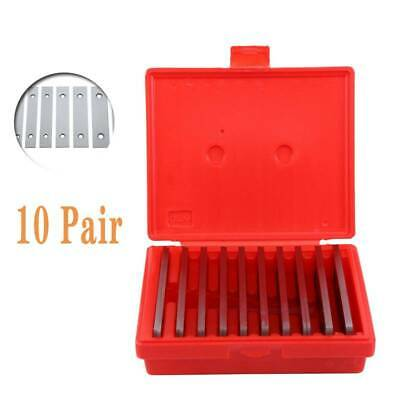 """Shars 1/8"""" Steel Parallel Set 10 Matched Pairs Parallels 0.0002"""" Hardened+Box"""