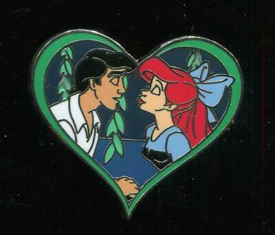 The Little Mermaid Booster Eric and Ariel Kiss the Girl Heart Disney Pin 91955