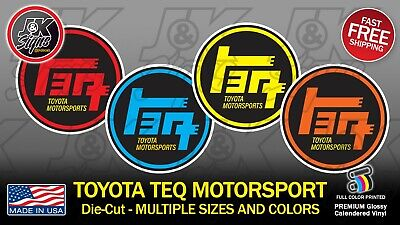 TOYOTA TEQ MOTORSPORT Sticker Decal Die-Cut VINTAGE 4x4 FJ40 FJ CRUISER TACOMA