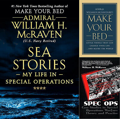 William H. McRaven - Make Your Bed + Sea Stories + Spec Ops  - 3 Digital P.DF