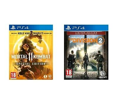 Mortal Kombat 11 (2019, PS4) plus Tom clancy the division 2 BRAND NEW