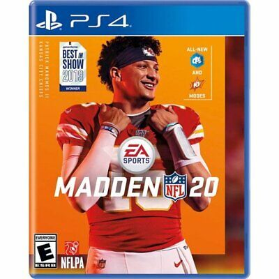 NEW! MADDEN 20 (Playstation 4, PS4 2019) Factory Sealed Game Disc *PRE-SALE*