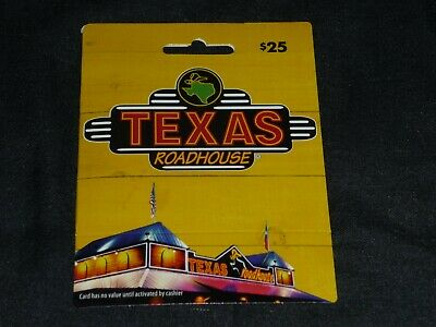 NEW Texas Roadhouse Gift Card $25 FREE SHIPPING
