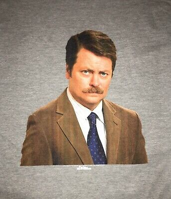 FREE SHIPPING New Men's Large Ron Swanson tee Parks & Rec tv Television