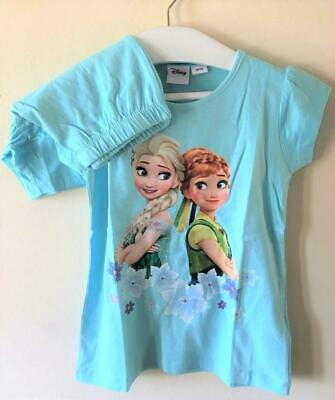 New Disney Frozen Princess Blue Shorts Pyjamas - Official Ages 3-10 Years