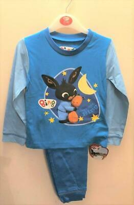 New Baby Boys Bing Pyjama Set Blue - Exstore - 100% Cotton - Age 2-4 Years