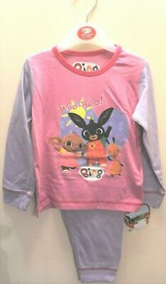 New Official Baby Girls Bing Pyjama Set Pink 100% Cotton Ages 18-24 Months