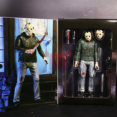 """7"""" NECA Friday the 13th Part III 3D Jason Voorhees Ultimate Action Figure Toy"""