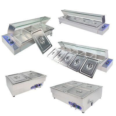 Bain Marie 1/2 GN Pan&Lid Electric Commercial Food Warmer Catering  Buffet Heat
