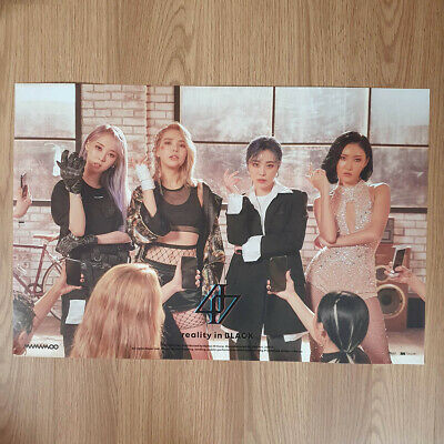 [Poster Only] Mamamoo 2nd Album Reality in Black Unfolded Hard Tube Case Packing
