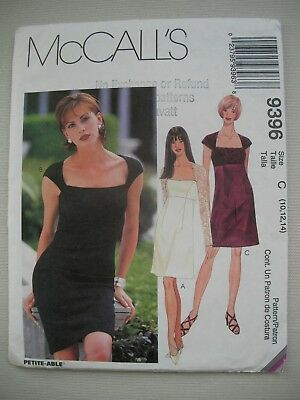 NEW McCalls Sewing Pattern 9396 - Womens Misses Dress - Sizes 10-14