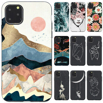 For iPhone 11 Pro Max XS Max XR 8 7 6S Slim Painted Soft Silicone TPU Case Cover