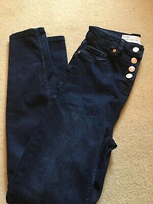 New NEXT Ladies Super High Waist Skinny Jeans Inky Blue 8  RP£42