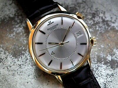 Late 1960's Oversize 18ct Gold Jaeger le Coultre Memovox Gents Vintage Watch