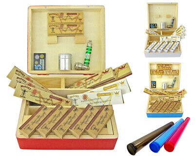 Wooden Large Stash Storage Rolling Papers Grinder Gauzes Tips Smokers Set Box
