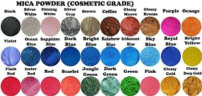 Mica Shimmer Powder Pigment🌈Resin-Make up-Soap-Nail Art-Canvas-Jewellery-Paint