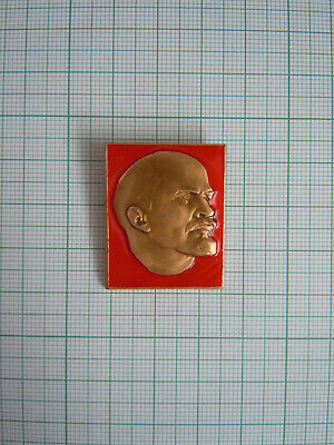 Soviet Russia USSR 1970s Communist Propaganda Lapel Pin Badge Leader LENIN m752