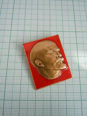 Soviet Russia USSR 1970s Communist Propaganda Lapel Pin Badge Leader LENIN m777