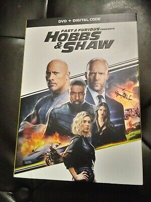 Fast And Furious Hobbs and Shaw DVD No Digital with slipcover