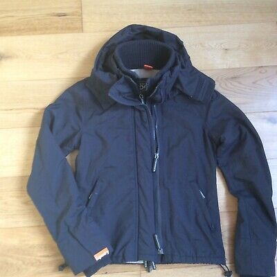 Superdry Windcheater jacket. Ladies/teen girls. Small. Black/very dark blue