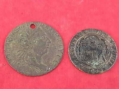 Two nice unresearched Post Medieval gaming? tokens uncleaned condition. L155m